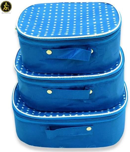 Rasafa 3 pieces of best quality Makeup kit box Jewellery box, Cosmetics box, Vanity box, Spacious interior Vanity Box