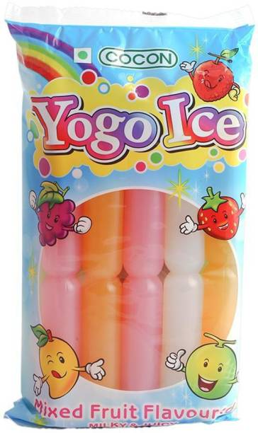 COCON Yogo ice jelly 450 g (10 tubes Mixed Fruit Jelly Candy