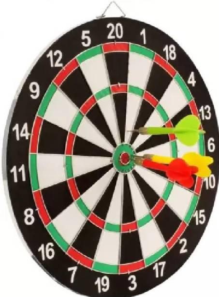 KEYUR Double Sided Dart Board Game - With 6 Darts Steel Tip Dart