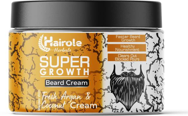 Hairole Super Growth Beard Cream Blended With Argan & Coconut Cream   Beard Growth Cream Beard Cream
