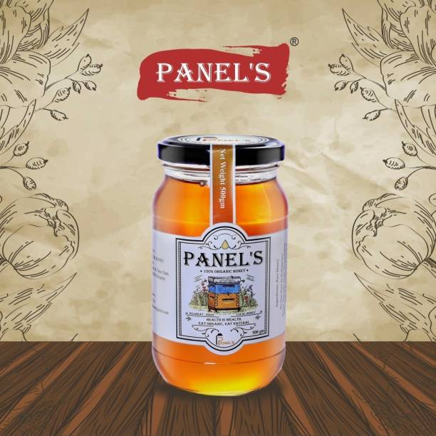 PANEL'S Organic Honey pure and Natural healthy no added sugar syrup,its totally pure & adulteration hence it help to strength your immunity & weight loss(1KG Sahad with Dipper free)