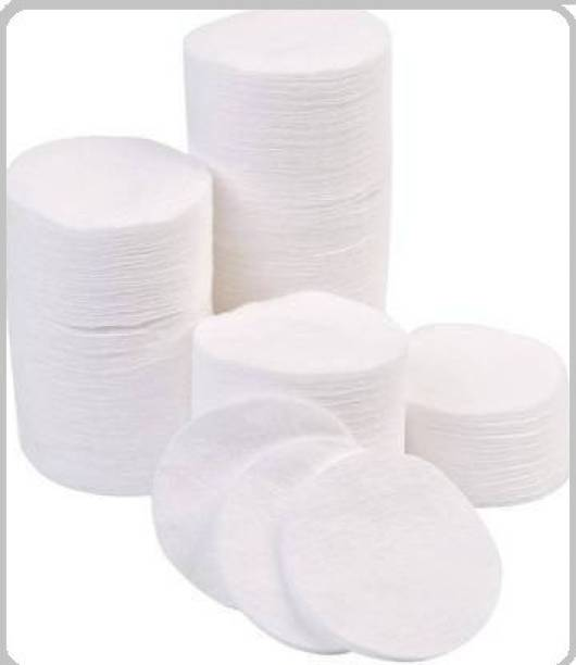 Alkaf Round Cotton Pads For Face & Eyes Cotton Pad 50 Pc Makeup Remover