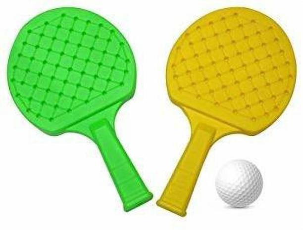 Giftzadda Plastic Table Tennis Set I Racquet Set with Ball for Kids Multicolor Table Tennis Racquet