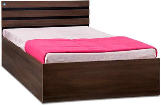 Delite Kom Cocoa Engineered Wood Single NA Bed