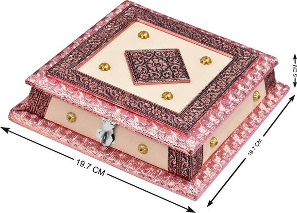 GKV GKV-New Rajwadi Fancy Dry Fruit Box(Multi color) Wood Decorative Platter
