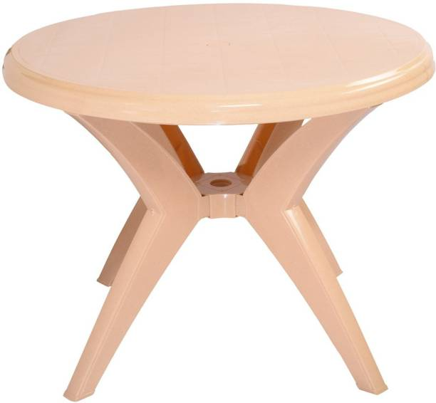 Binani Cello Presto Four Seat Plastic Dining Table for Home, Restaurants, Cafeterias and Outdoor Areas Plastic 4 Seater Dining Table