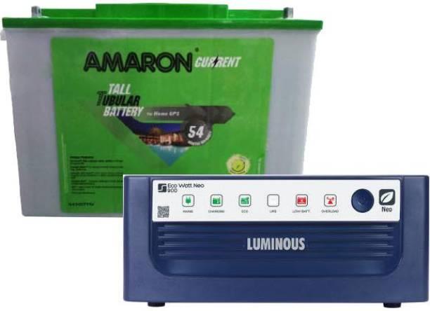 amaron AAM-CR-AR200TT54+ EcoWattNeo-900 Tubular Inverter Battery