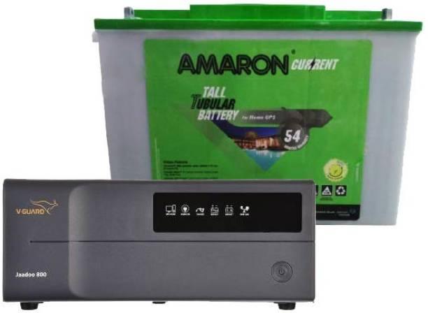 amaron AAM-CR-AR200TT54+JAADOO 800 Tubular Inverter Battery