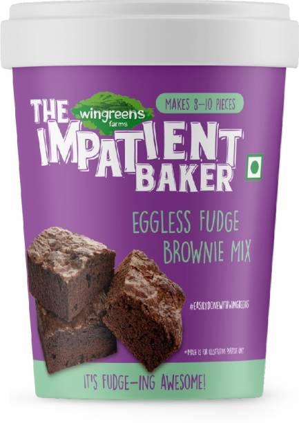 WINGREENS Easy Eggless Fudge Brownie Mix 300 g