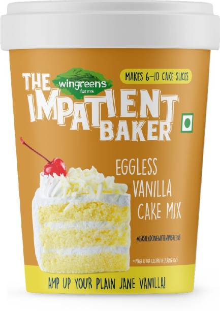 WINGREENS Easy Eggless Vanilla Cake Mix 300 g