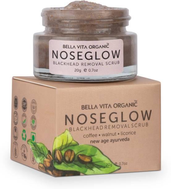 Bella vita organic Nose Glow Scrub Creme For Black Head Removal, Brightening & Hydration Scrub