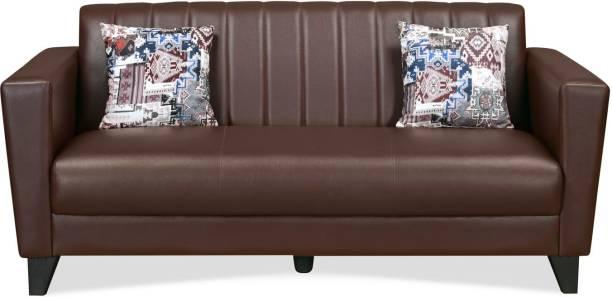 @Home by nilkamal JOY Leatherette 3 Seater  Sofa