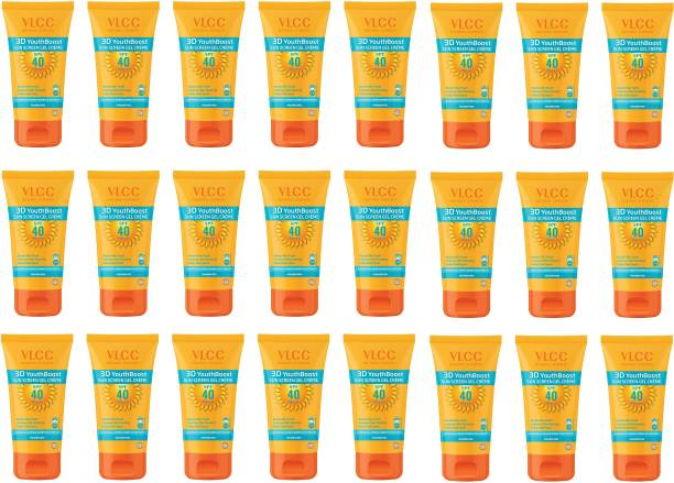 VLCC 3D Youth Boost Sunscreen Gel Creme SPF40 PA (+++) - (Pack of 24 x 100g) - SPF 40 PA++