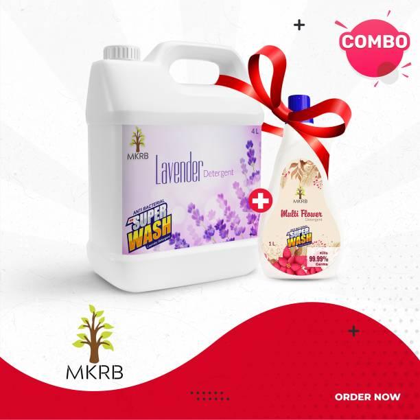 MKRB Floor Cleaner Lavender 4L with Floor Cleaner multi Flower 1L Lavender