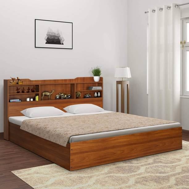 TREVI Bolton Copal Engineered Wood King Box Bed
