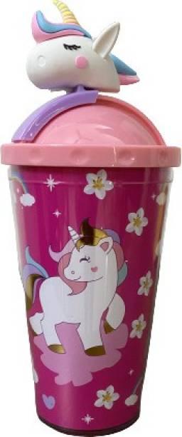 SM PRODUCTS 3D Unicorn Cap Bottle For Kids 1000 ml Bottle