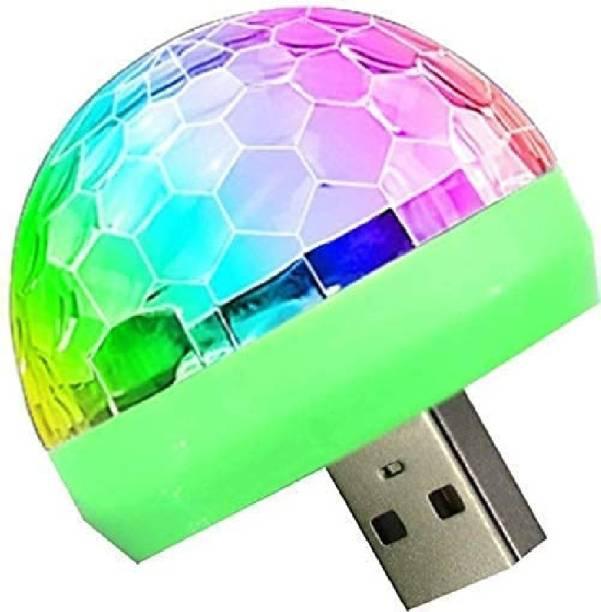 Pishon Mini Disco DJ Lamp Light Multi-Color Sound Activated Music Controlled Sensor Lights USB Powered Car Fancy Lights