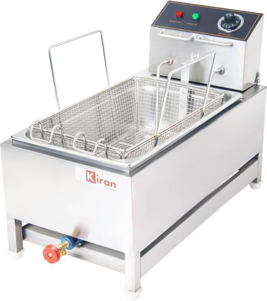 kiran 16 Liter Deep Fryer vertical - Electric and Gas with Basket 16 L Electric Deep Fryer