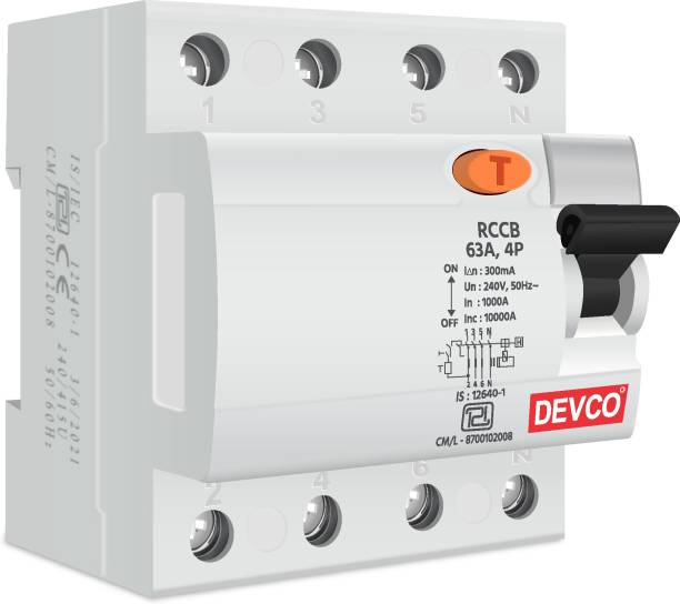 DEVCO 4-Pole 63-Amp (300mA) - RCCB RCC406330 MCB