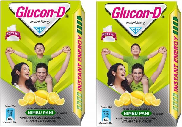 GLUCON-D Instant Energy Nimbu Pani 450 Gram Pack of 2 Energy Drink