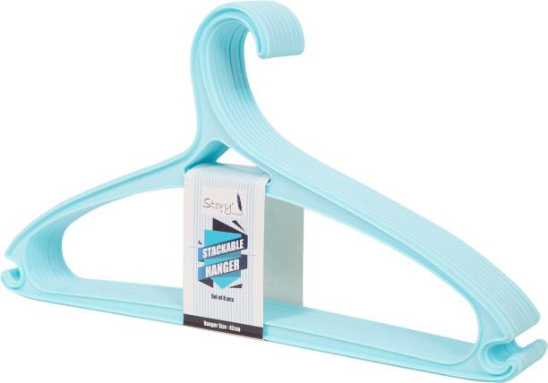 Story@home Plastic Pack of 8 Hangers