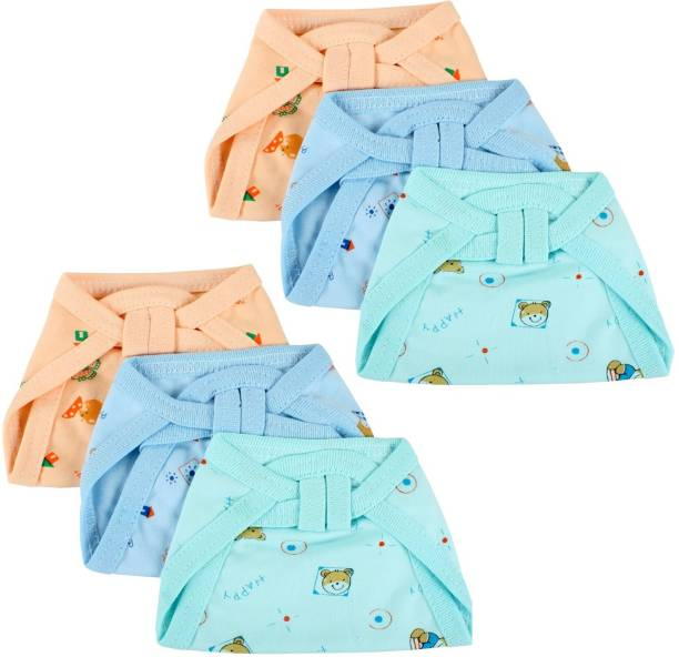 Honey Boo New Born Washable Reusable Hosiery Cotton Diapers, 0-6 Months