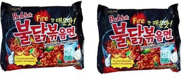 Samyang Stir Fried Hot Chicken Flavour Ramen Instant Korean Noodles Instant Noodles Non-vegetarian