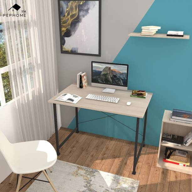 PEPHOME PH-2C Multipurpose Study Table, Office Table, Laptop Table, Computer Table, Workstation Table, Computer Desk, Study Desk, Office Desk, Writing Table, Work from Home Table, 100x60x75CM, Engineered Wood Study Table