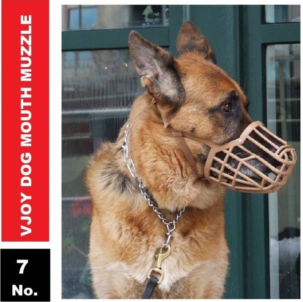 VJOY Plastic Mouth Muzzle 7 No.(Brown) Large Other Dog Muzzle (Brown) Extra Large Other Dog Muzzle