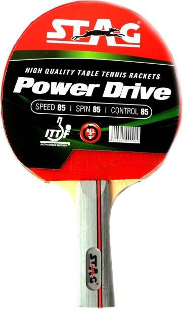 STAG Power Drive Red, Black Table Tennis Racquet