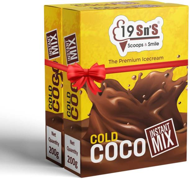19 Sn's SCOOPS AND SMILE Instant Mix Cold Cocoa Net Weight - 200g each 400 g