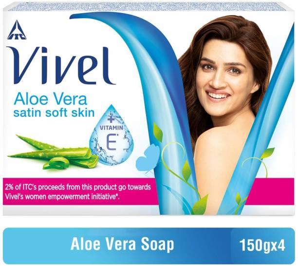 Vivel Aloe Vera Bathing Bar, 150g (Pack of 4)