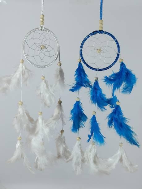 FASTDAP Beautiful Handmade pack of 2 DREAM CATCHER Feather Dream Catcher
