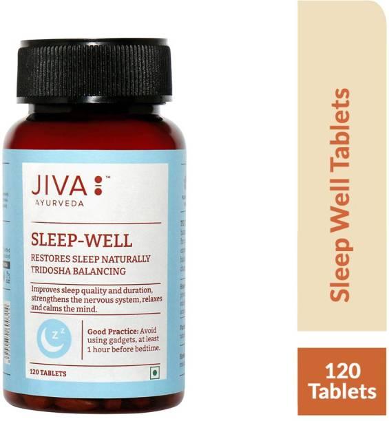 Jiva Sleep-Well Tablets - Restores Natural Sleep - Non-Habit Forming Sleep Supplement - 120 Tablets - Pack of 1