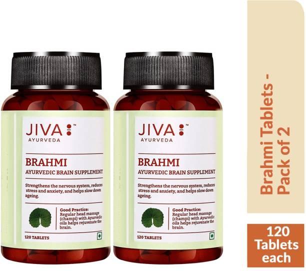 Jiva Brahmi Tablets - Gain Holistic Health Naturally - 120 Tablets Each - Pack of 2