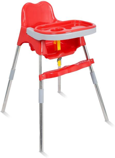 Esquire Spotty Baby Dining Chair with Footrest, Red Colour