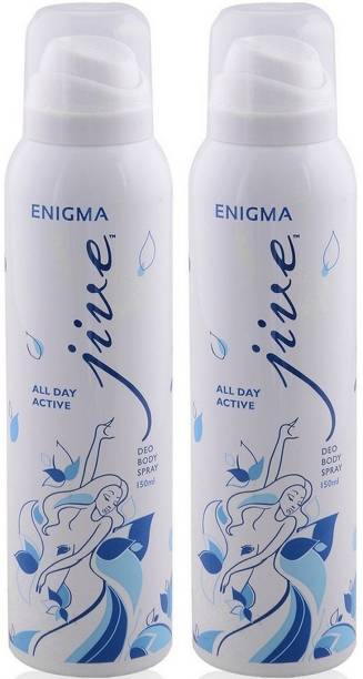 JIVE ENIGMA ALL DAY ACIVE DEO 150ML PACK OF 2 Body Spray  -  For Men & Women