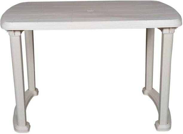 Binani Cello Senator Four Seat Plastic Dining Table for Home, Restaurants, Cafeterias and Outdoor Areas Plastic 4 Seater Dining Table