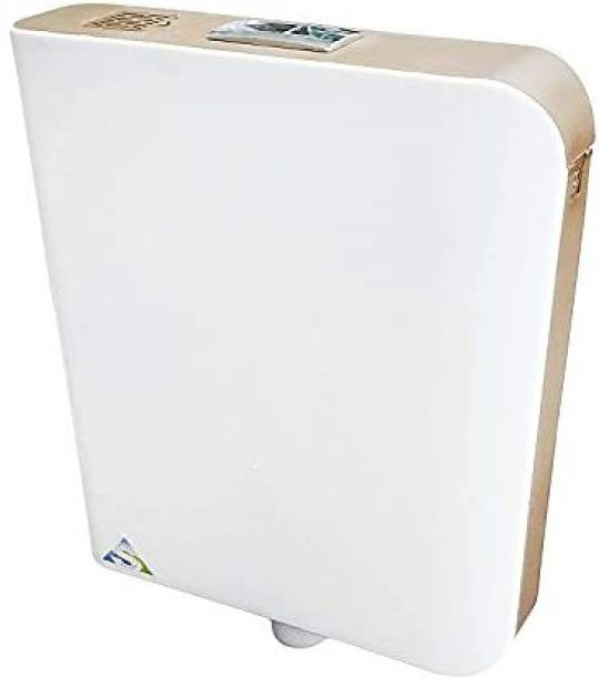 RV Wall Mounted Double Flush Cistern with Provision for Air Freshner (White - Brown) Dual Flush Tank