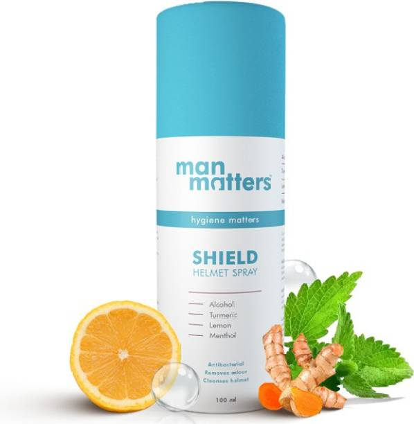 Man Matters Motorcyle Helmet Spray | Anti Bacterial & Anti Fungal Disinfectant | Prevent Hair Fall