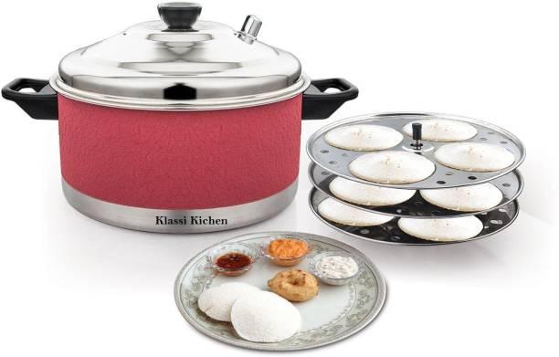 KLASSI KICHEN Induction & Standard Colored Idli Maker (3 Plates , 12 Idlis ) Induction & Standard Idli Maker