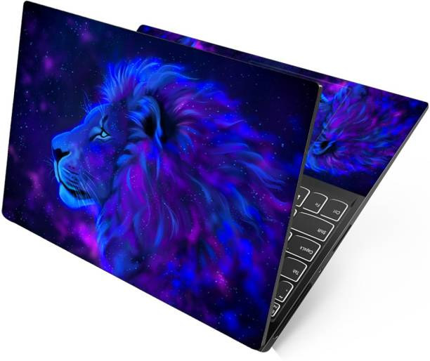 dzazner Full Panel Laptop Skins Compatible with All 15.6 inches Laptop - No Residue, Bubble Free - Removable HD Quality Printed Vinyl/Sticker/Cover for Dell-Lenovo-Acer-HP (Galaxy Lion) Stretched Vinyl Laptop Decal 15.6