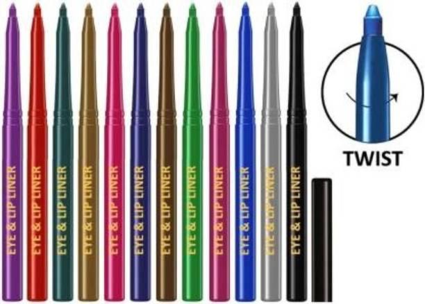VBA Perfect Lip/Eye Liner Pencil set of 12