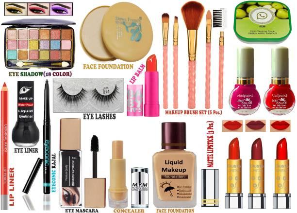 CLUB 16 Makeup Kit for Trend Setting Makeup Look. Kit of 21 Makeup Items AXR30