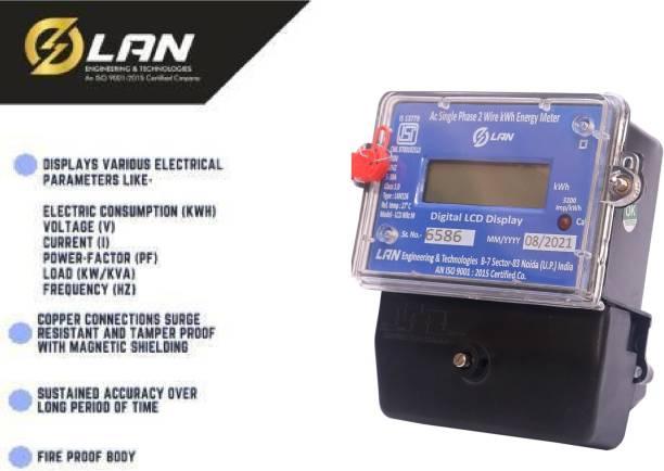 LAN ENGINEERING 1 Phase Sub Electric LCD Meter 2 Wire 5-30A 240V 50HZ Metal Electrical Box Metal Electrical Box