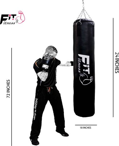 FIT & FITNESS Unfilled Punching Bag with Rust Proof Stainless Steel Chain Hanging Bag Hanging Bag