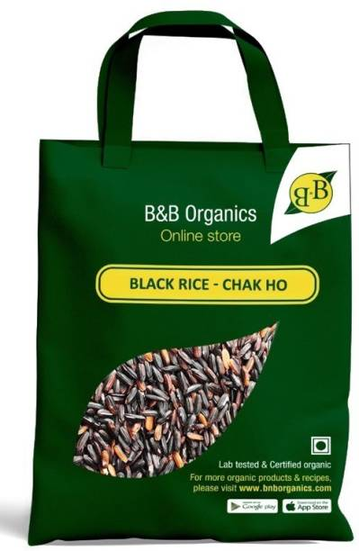 B&B Organics Black Rice Chak Hao Rice Black Forbidden Rice (Medium Grain)