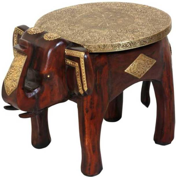 wooden palm Solid Wood Side Table