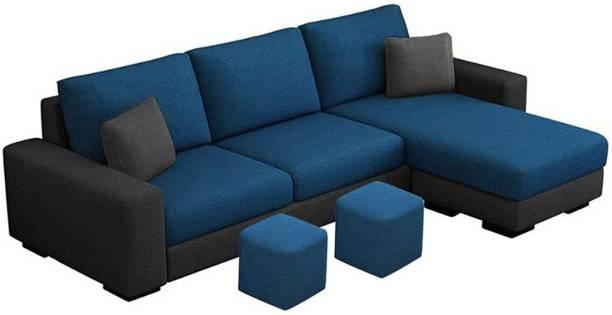 FURNY Arvon RHS L shape Fabric 4 Seater  Sofa