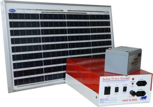 Ajab gajab Solar Zatka Machine with Battery Panel and 100 PC Insulator1 MPPT Solar Charge Controller